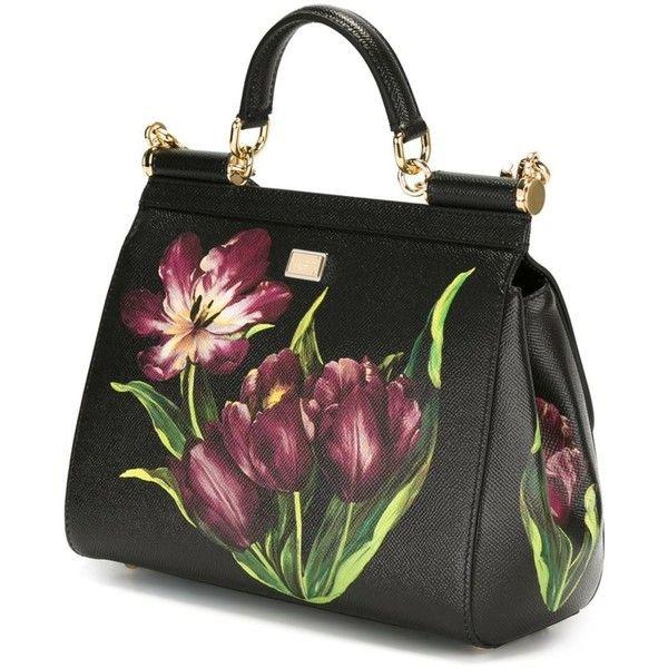 Dolce   Gabbana tulip print  Sicily  tote ( 2 e0e845f3bf52e