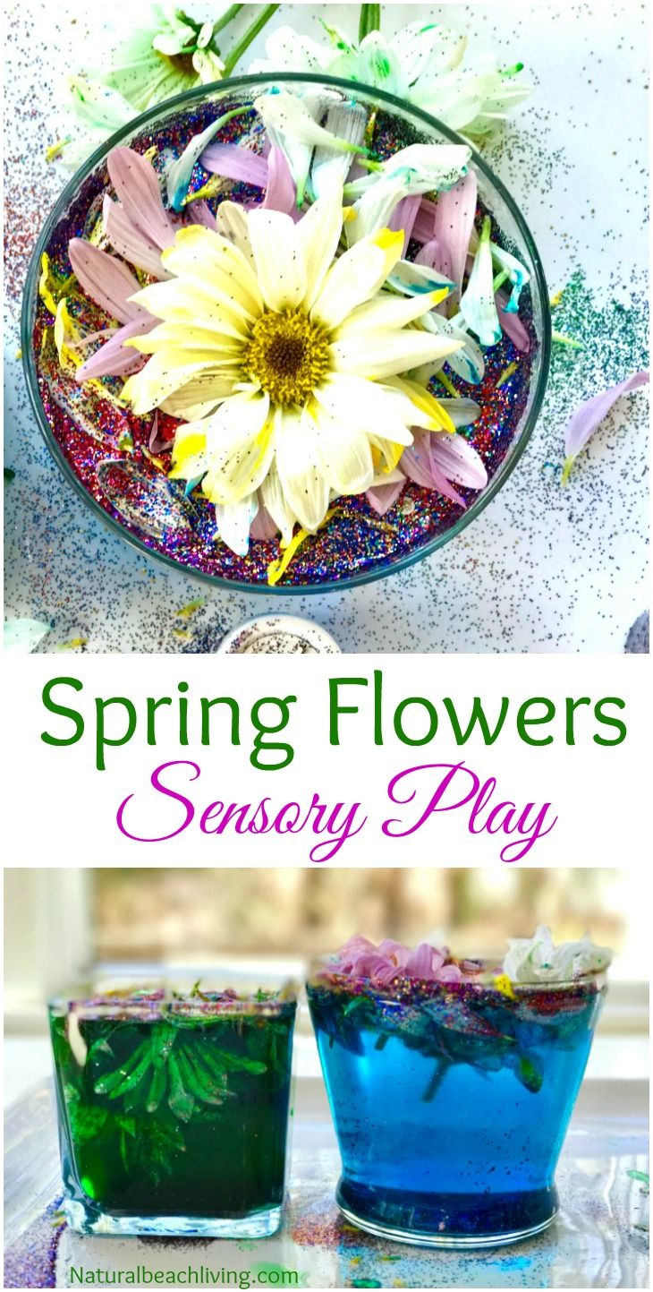 Easy Spring Flowers Sensory Play Kindness Activity Kids Love