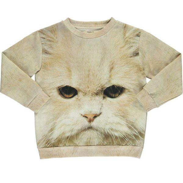 White Cat Loose Sweat - Popupshop