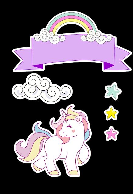Free Printable Unicorn Cake Toppers Dibujos De Unicornios