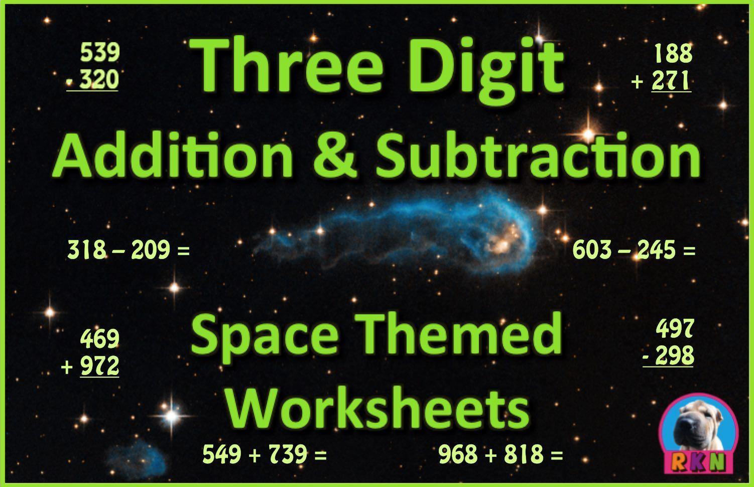 Three Digit Addition And Subtraction Worksheet Bundle