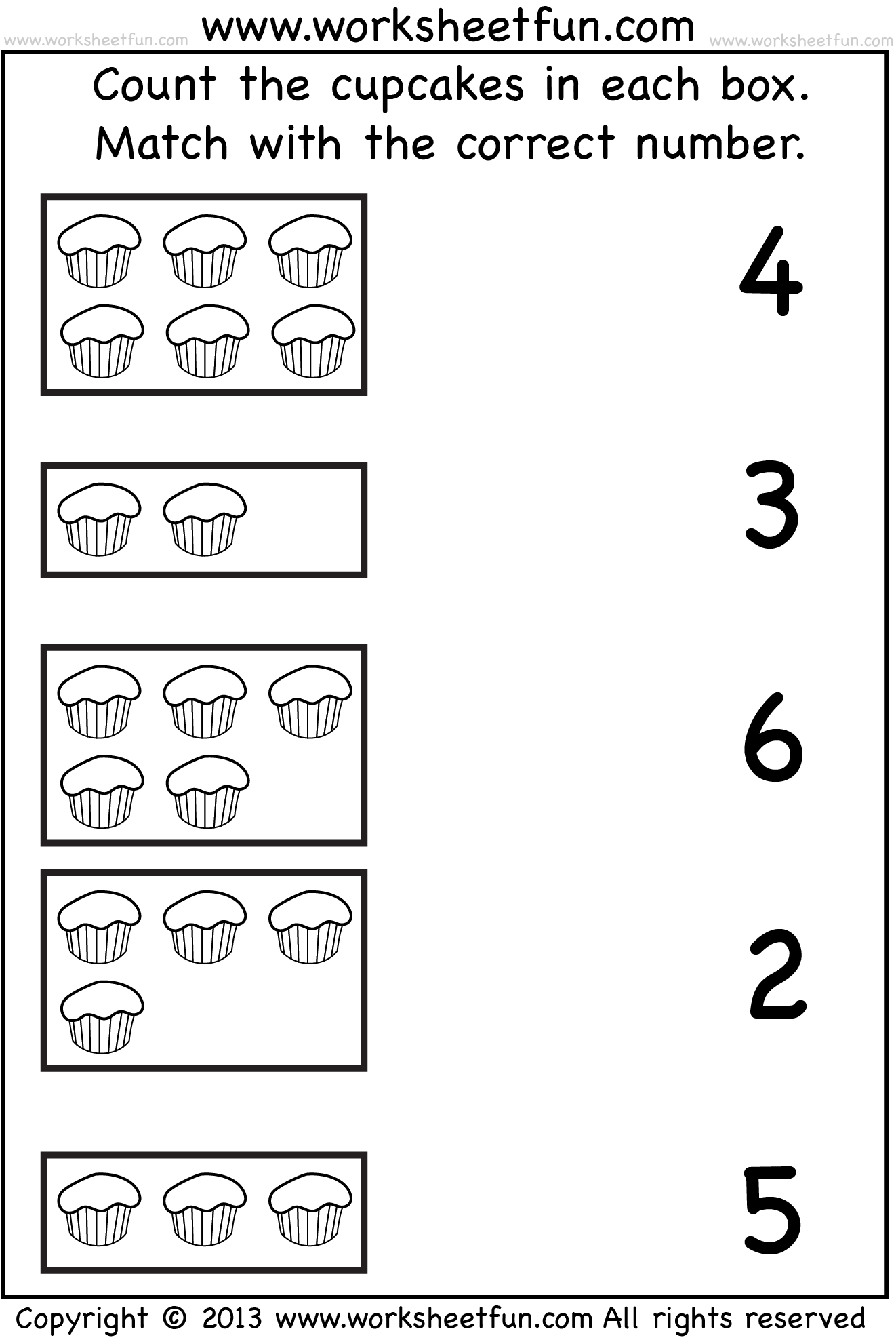 Count And Match Cupcakes Wfun 1 1 322 1 982 Pixels