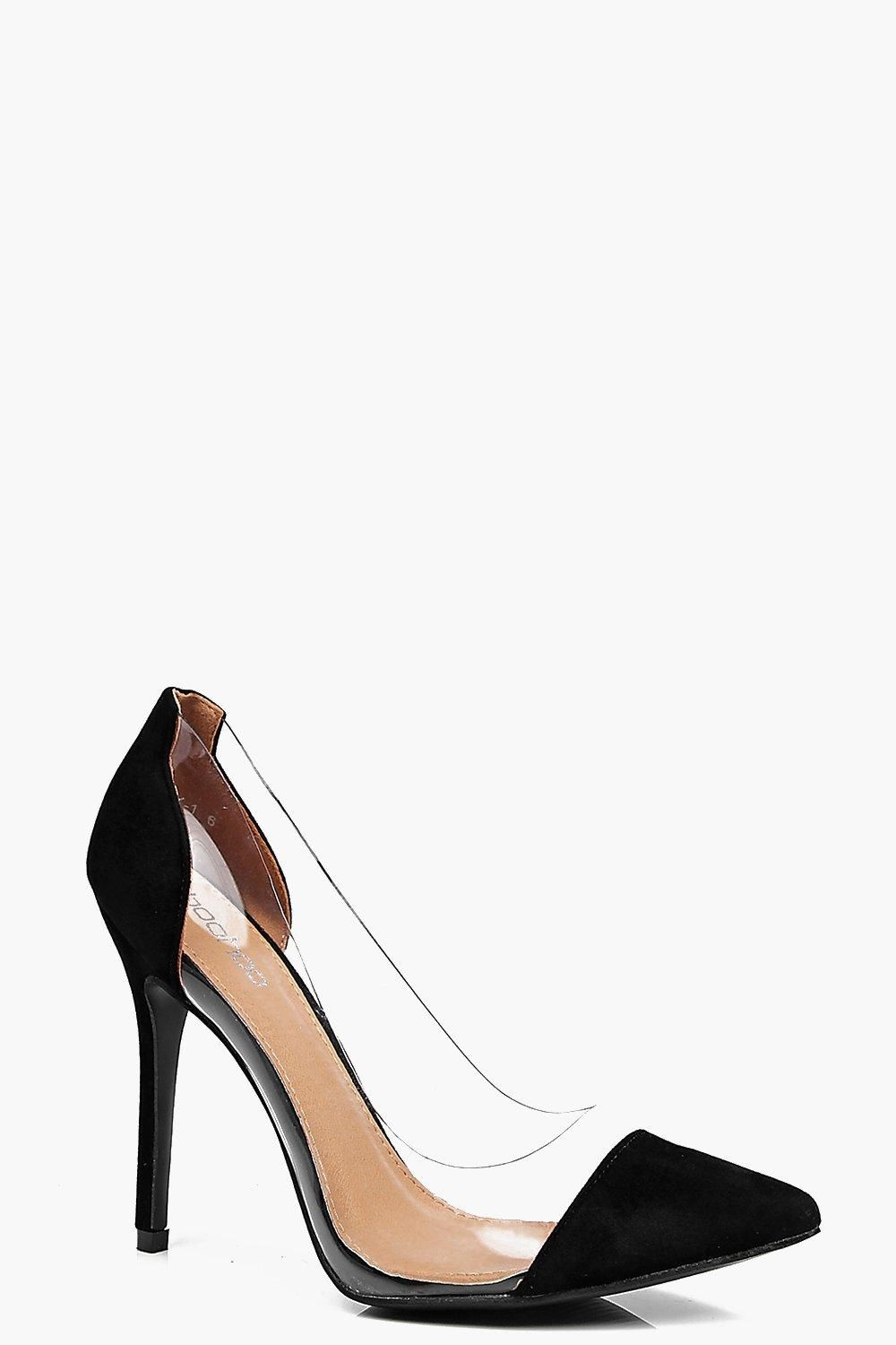 Lacey Clear Pointed Court Boohoo Uk Heels Boohoo High Heels