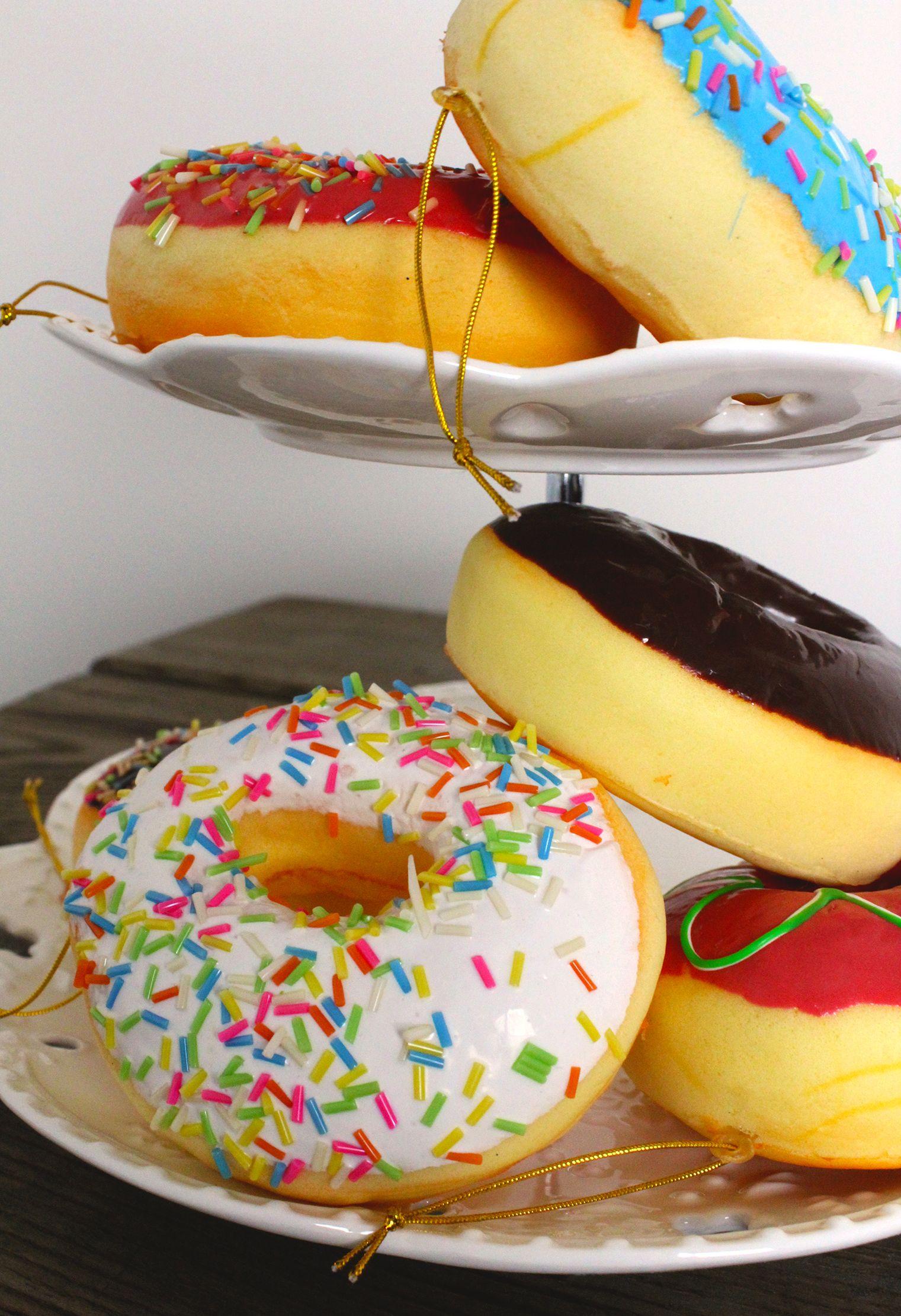 Kurt S Adler Foam Donut Ornaments Assorted Set Of 6 D2340 Donut Ornament Christmas Gingerbread Sweet Treats