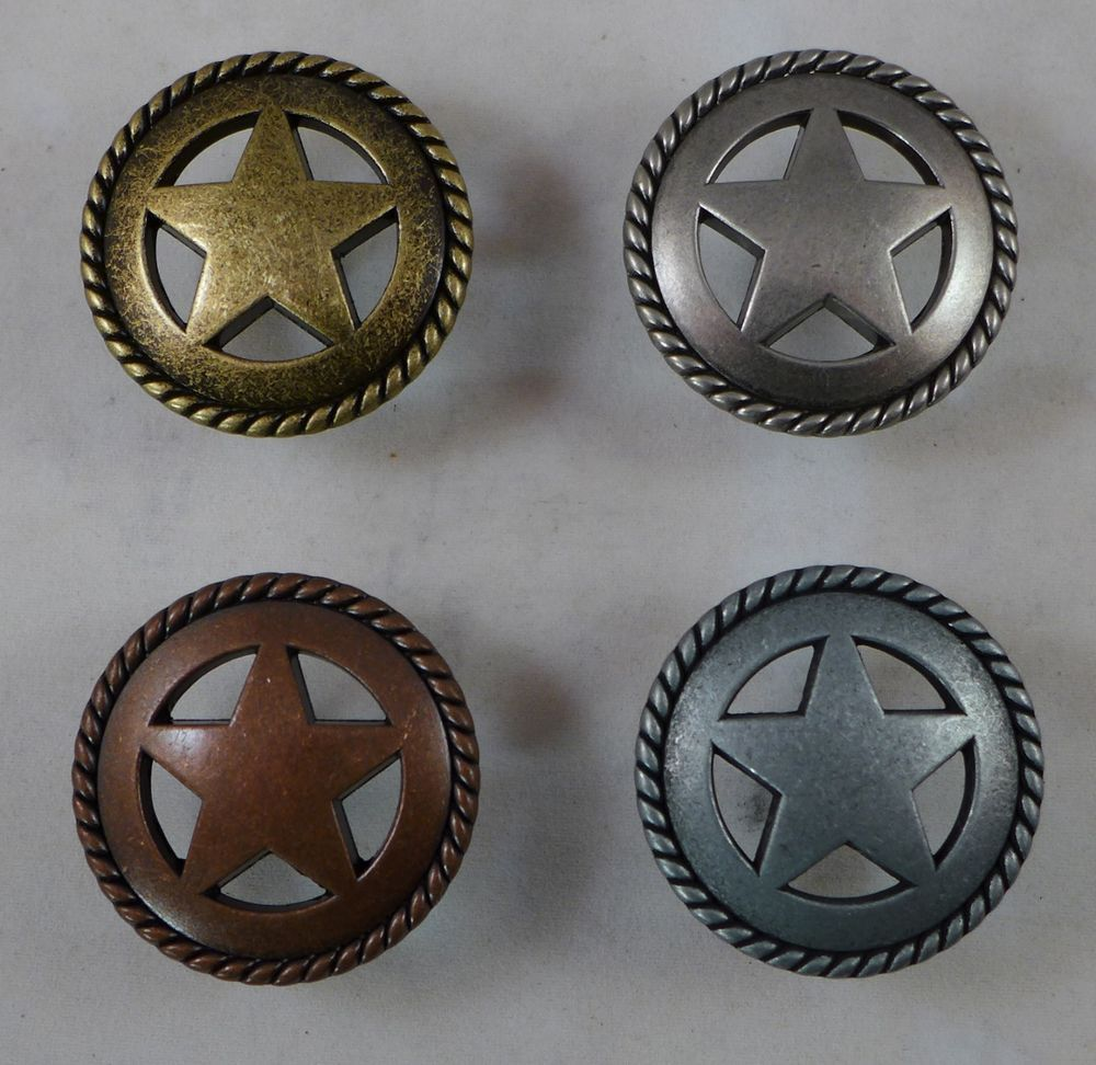 Star With Rope Cabinet Knobs. Great For Western Decor. Four Colors  Available, Antique Bronze, Copper, Old Silver U0026 Pewter.