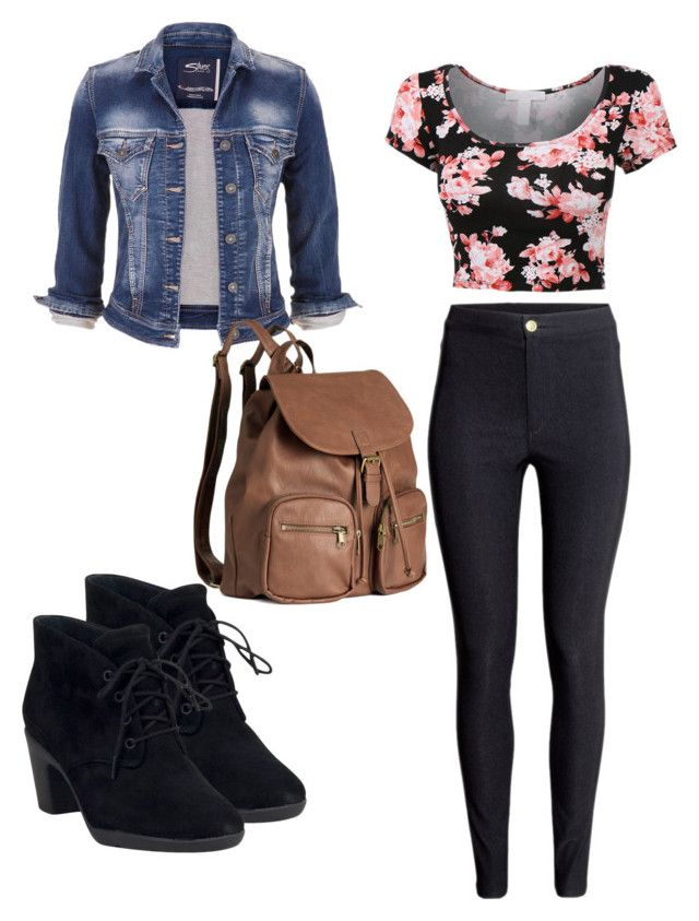 """Cool summer day"" by karshmene ❤ liked on Polyvore featuring Clarks, maurices and H&M"