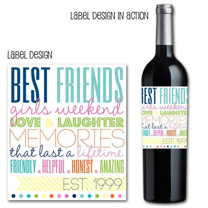 girls weekend, wine bottle labels, fun wine labels, drink ...