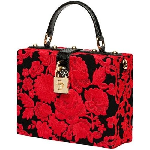 0c38959b85 Dolce Gabbana Embroidered Box Bag featuring polyvore fashion bags handbags  accessories dolce gabbana dolce gabbana purse