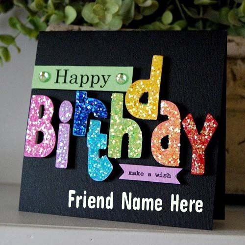 Write Name On Fabulous Sparkle Birthday Greeting CardHappy Wishing Cards With Namepix Online Free Without Downloading