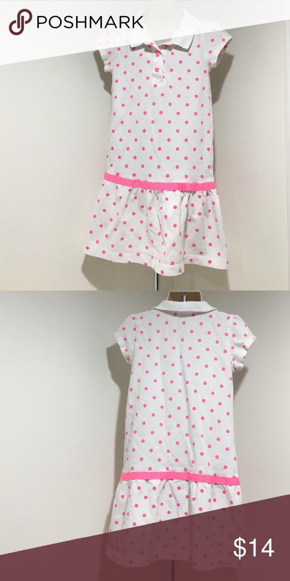 72d4614bcb Carter s 5 White Pink Polka Dot Dress