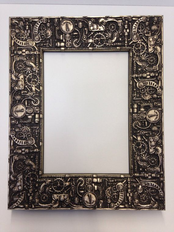 Steampunk Picture Frame Silver 3x5 4x6 5x7 8x10 By Wholesaleframe Steampunk Crafts Unique Picture Frames Steampunk Art