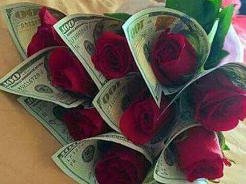 My Bouquet Red Roses Wrapped With 100 00 Dollar Bills