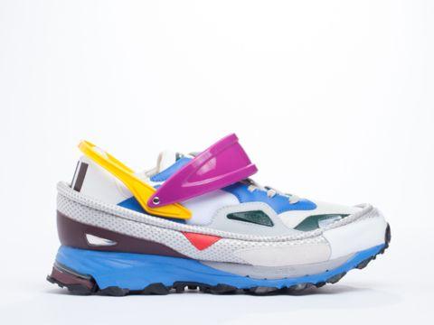 ADIDAS X RAF SIMONS Response Trail 2 All White Sneakers