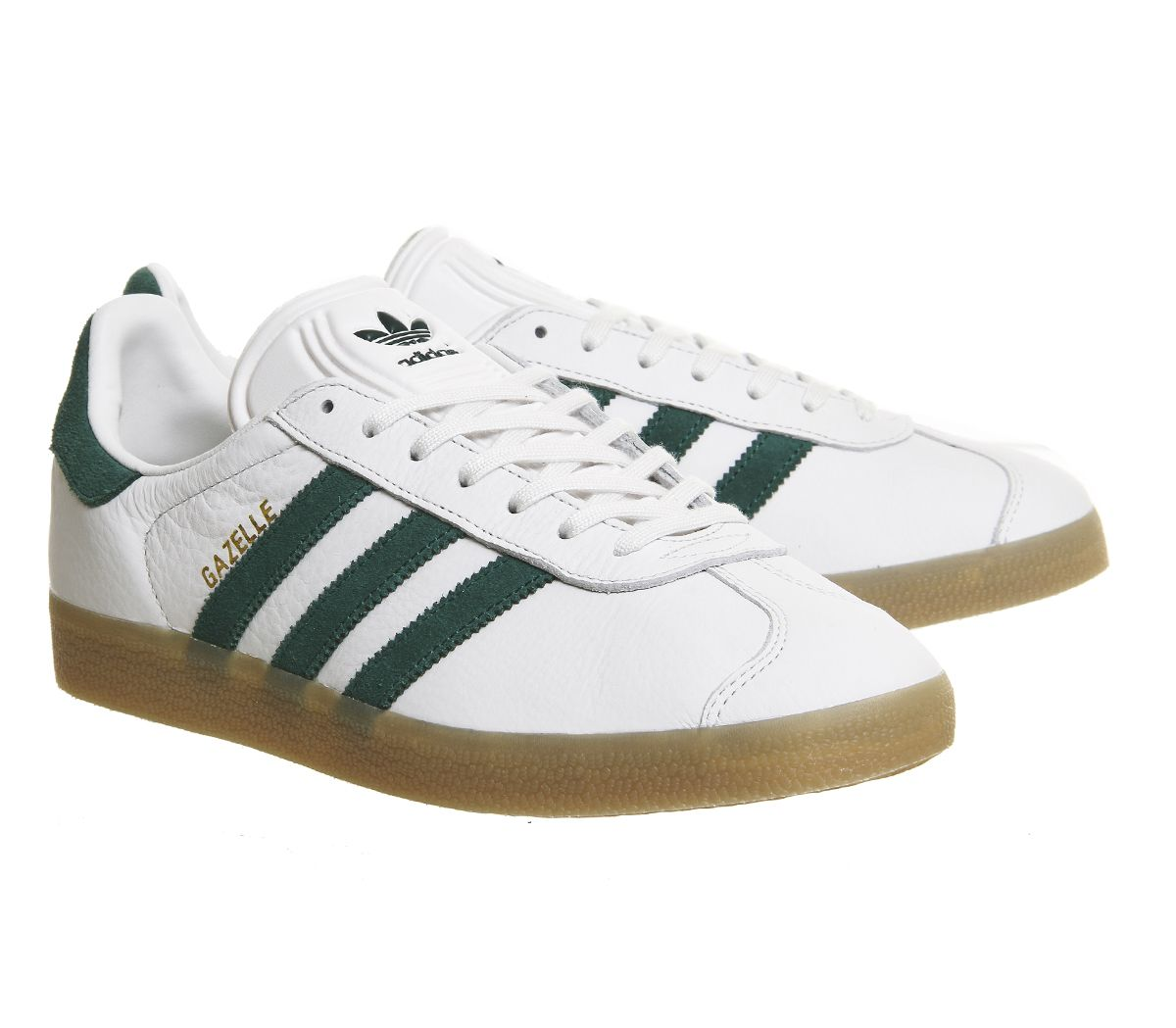 reputable site 0f870 b4618 Traditional leather Gazelles finished in Vintage White Green with a Gum  sole · Adidas GazelleAdidas OriginalsTrainersTerraceSneakerSoleOfficesTennis  ...