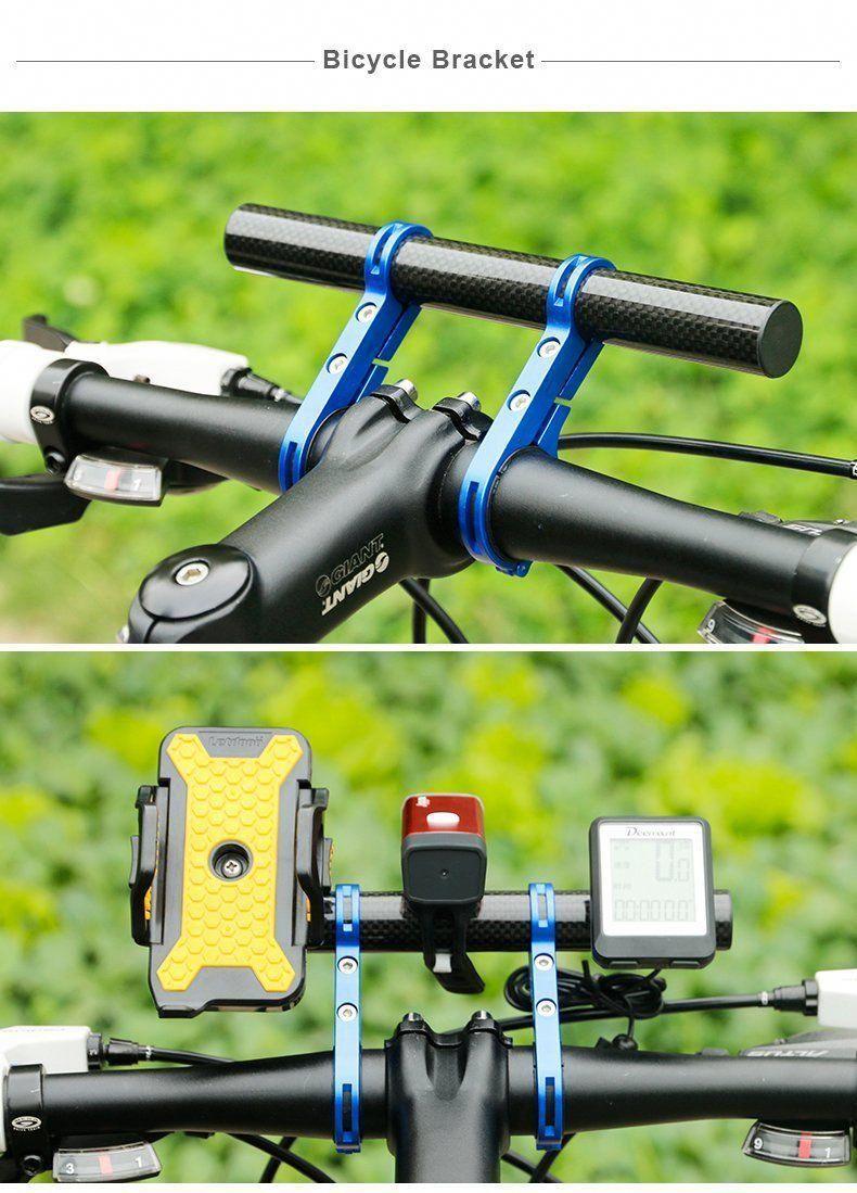 MTB Bike Flashlight Holder Handle Bar Bicycle Accessories Extender Bracket Magic