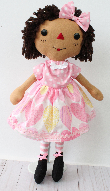 Raggedy Ann Doll Cinnamon Annie Doll African American