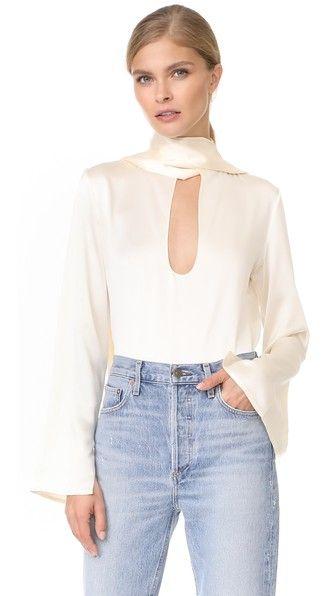 774a660e4c544 JUAN CARLOS OBANDO Silk Ties Blouse.  juancarlosobando  cloth  dress  top   shirt  sweater  skirt  beachwear  activewear