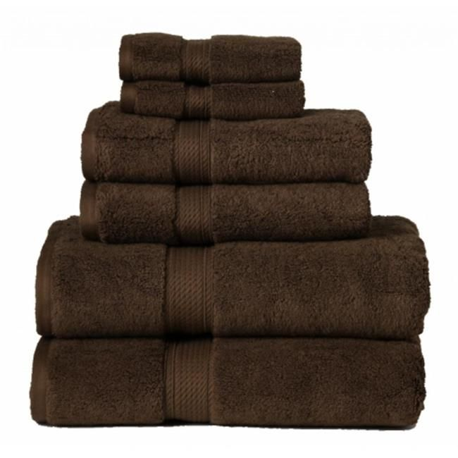 900gsm Egyptian Cotton 6 Piece Towel Set Chocolate In 2020 Brown