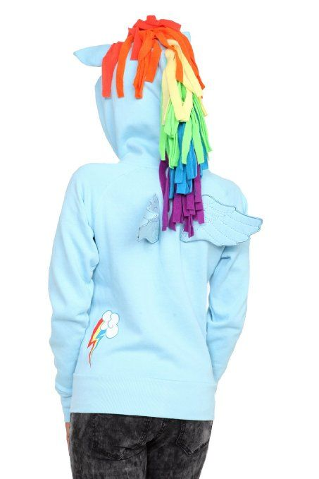 540ea0123bb3 Amazon.com  My Little Pony Rainbow Dash Girls Hoodie  Clothing ...