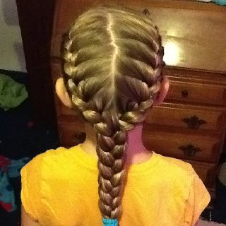 So Easy Just Braid 3 Braids Then Braid Them Into One Hair Styles Long Hair Styles Hair