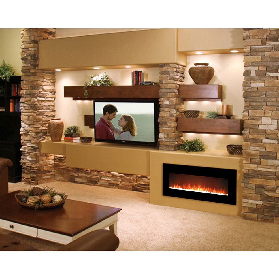 Essex Crystal Wall Mounted Electric Fireplace Fireplace Pinte