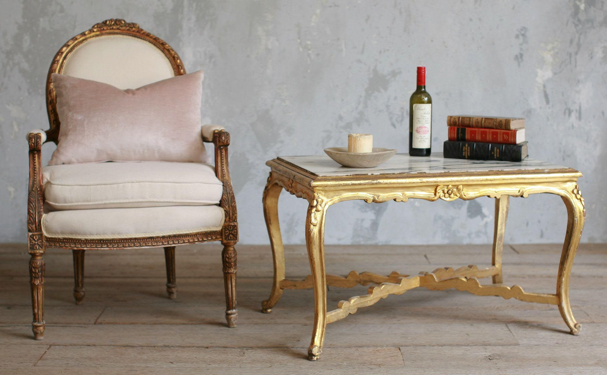 Antique Gold Coffee Table (With images) | Coffee table ...