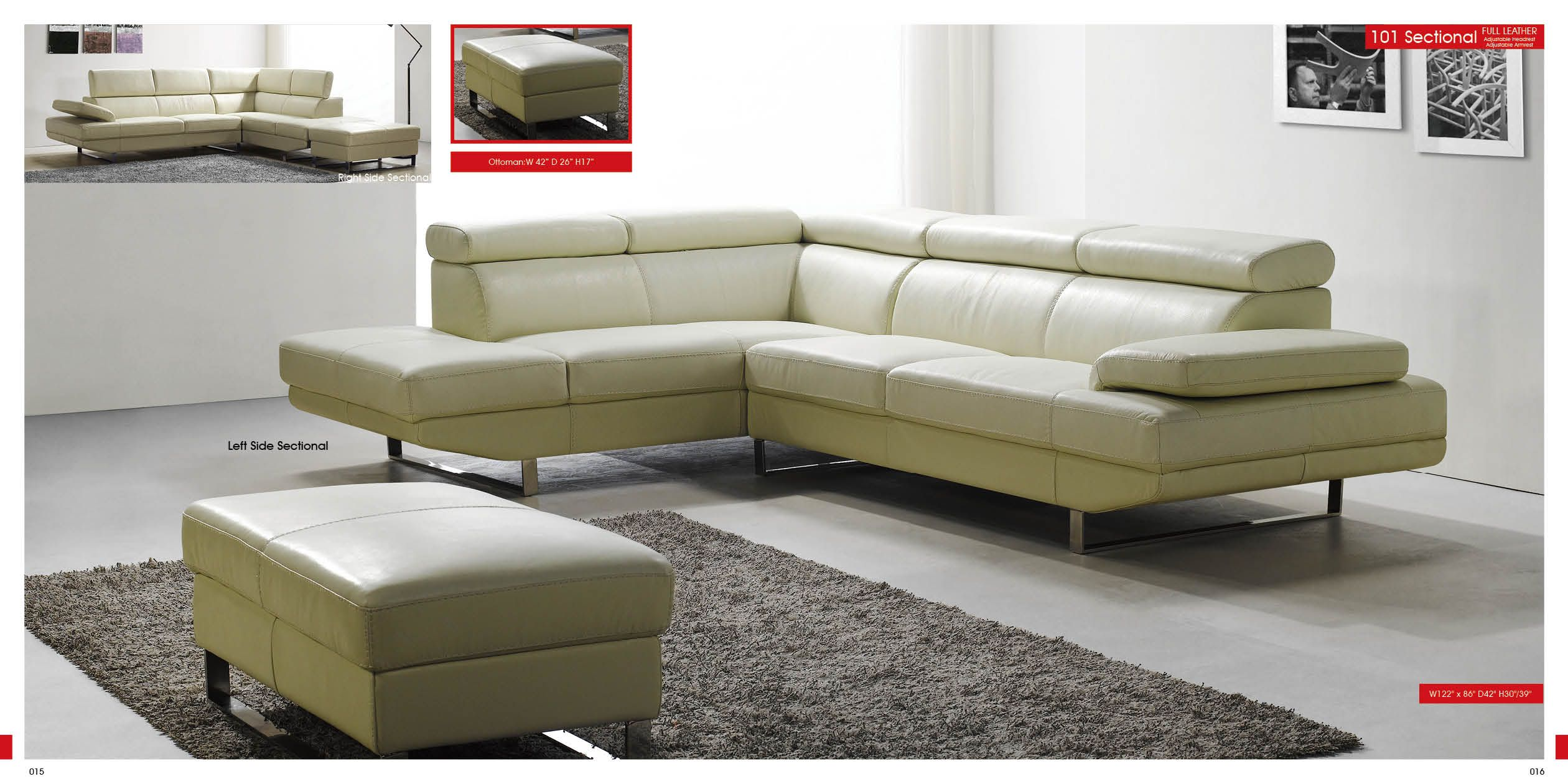 White Sectional Living Room Modern Furniture Italian Leather Living Room Sectional Sofa Set