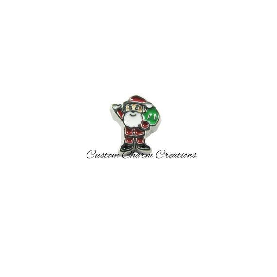 Floating Locket Charm • Christmas • Santa Claus • Holiday Memory Charm - CHR04 #pictureplacemeant