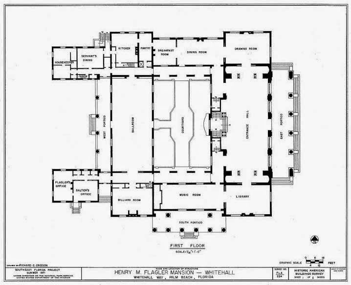 the devoted classicist: whitehall, palm beach | plans | pinterest