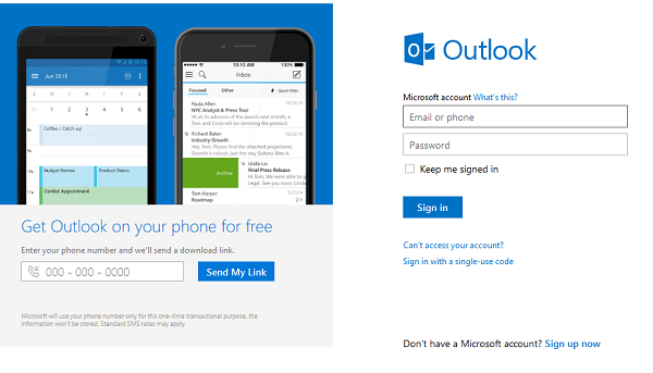 microsoft outlook email login
