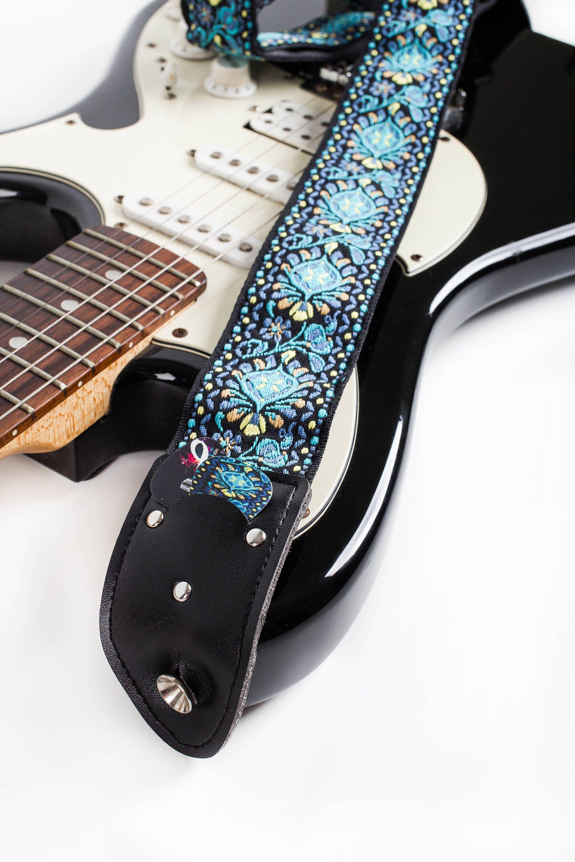 Guitar Strap Woven Guitar Accessory Guitar Player Gift Etsy Guitar Strap Vintage Guitar Accessories Guitar Strap