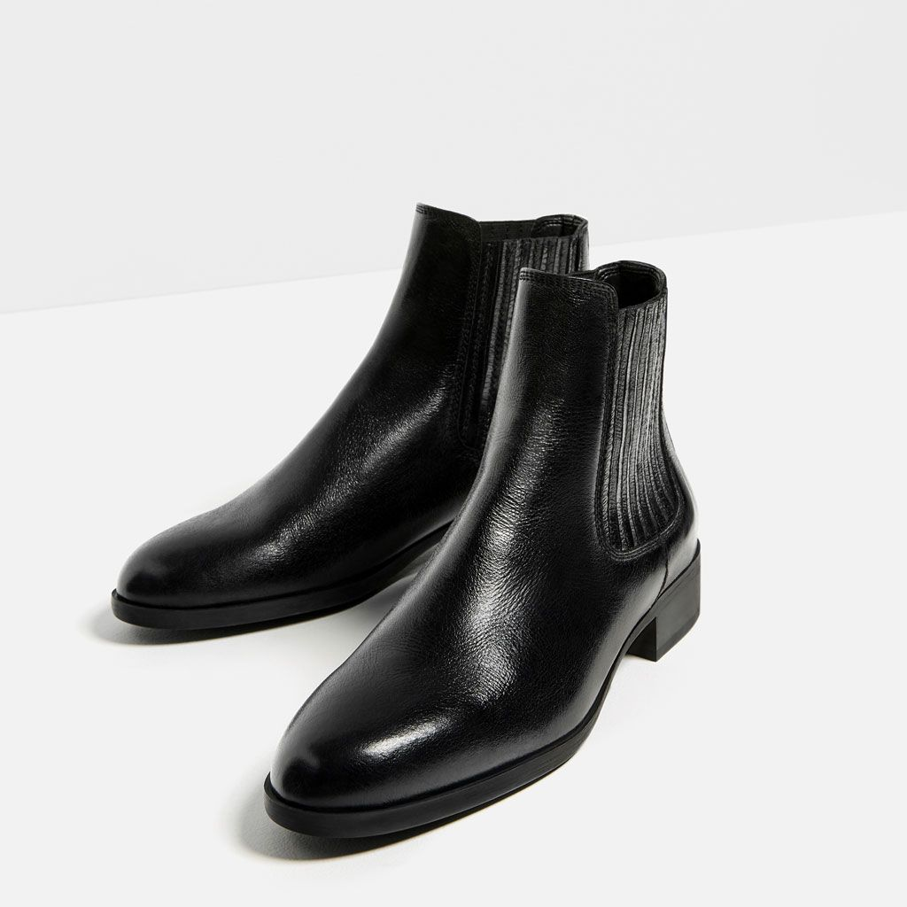 BOTÍN PLANO PIEL | Leather ankle boots, Ankle boots and Ankle