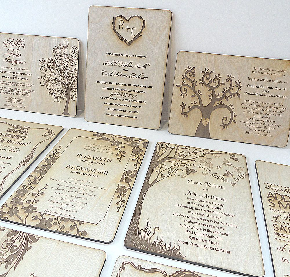 Wood Wedding Invitations- Owl Always Love You by Nature Favors - Set ...