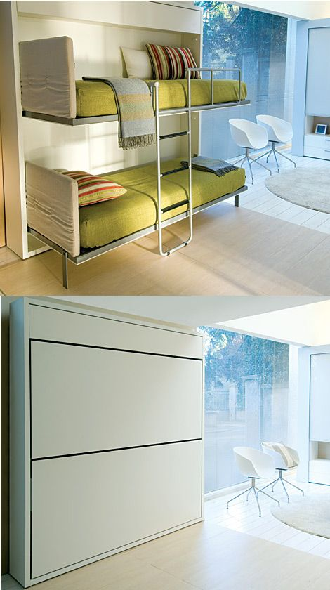 The Lollipop In Designed By Giulio Manzoni Is A Space Saving System Is A Wall Bunk Bed System That Includes A Completely Integrat Home Bunk Beds Cool Bunk Beds