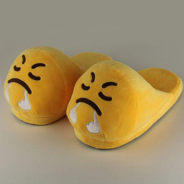 314740c9477e Emoji Slippers Funny Slippers Mens Slippers Indoor Shoes House Slippers  Emoji Shoes Warm Zapatillas De Estar Por Casa