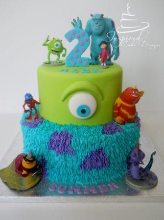 Monsters Inc Birthday Cake My Cakes Pinterest Birthday cakes