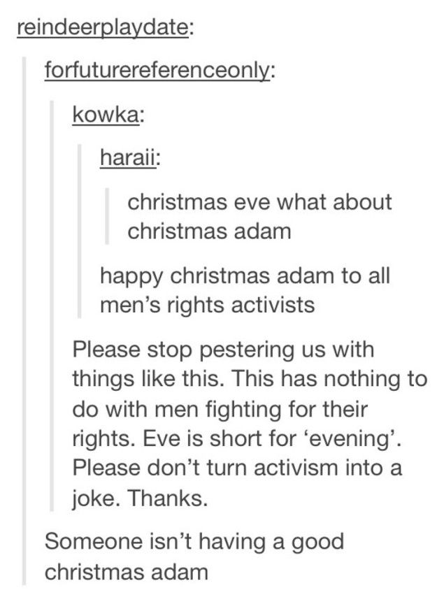 This theory… | Community Post: 26 Fucking Funny Christmas Tumblr Posts Guaranteed To Make You Laugh
