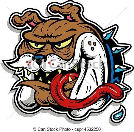 vector crazy bulldog with long tongue stock illustration rh pinterest co uk