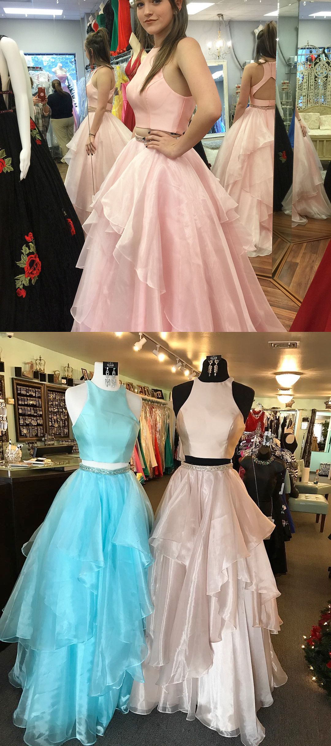 Prom dresses long prom dresses two piece long prom dresses