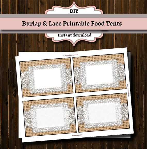 Awe Inspiring Printable Buffet Food Labels Burlap Baby Shower Ideas In Home Remodeling Inspirations Genioncuboardxyz
