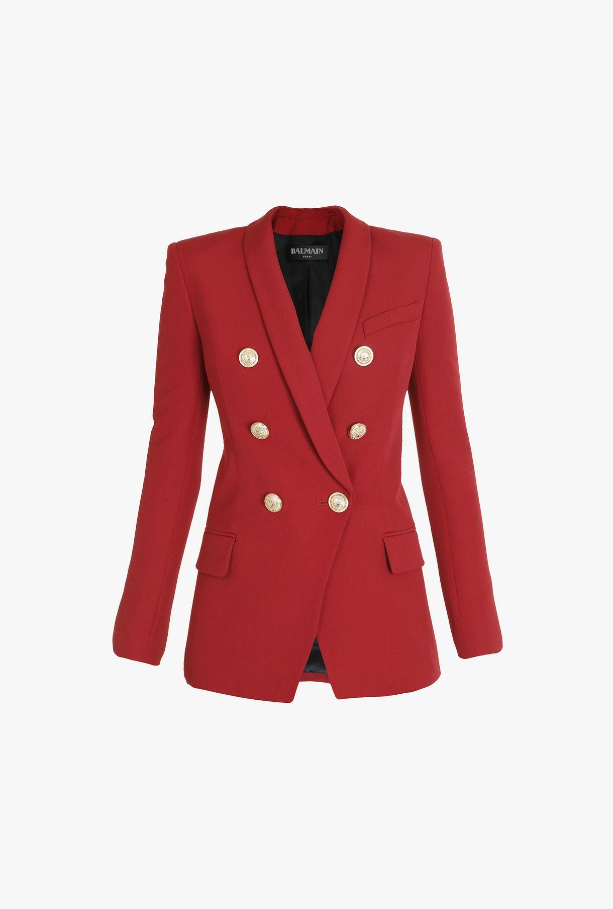 ab89b90c5d3cb BALMAIN Oversized double-breasted wool blazer Jacket Woman f ...