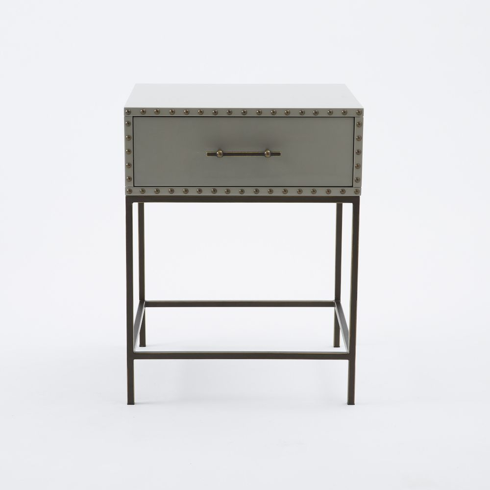 West Elm Nailhead Bedside Table Home Sweet Home My Personal