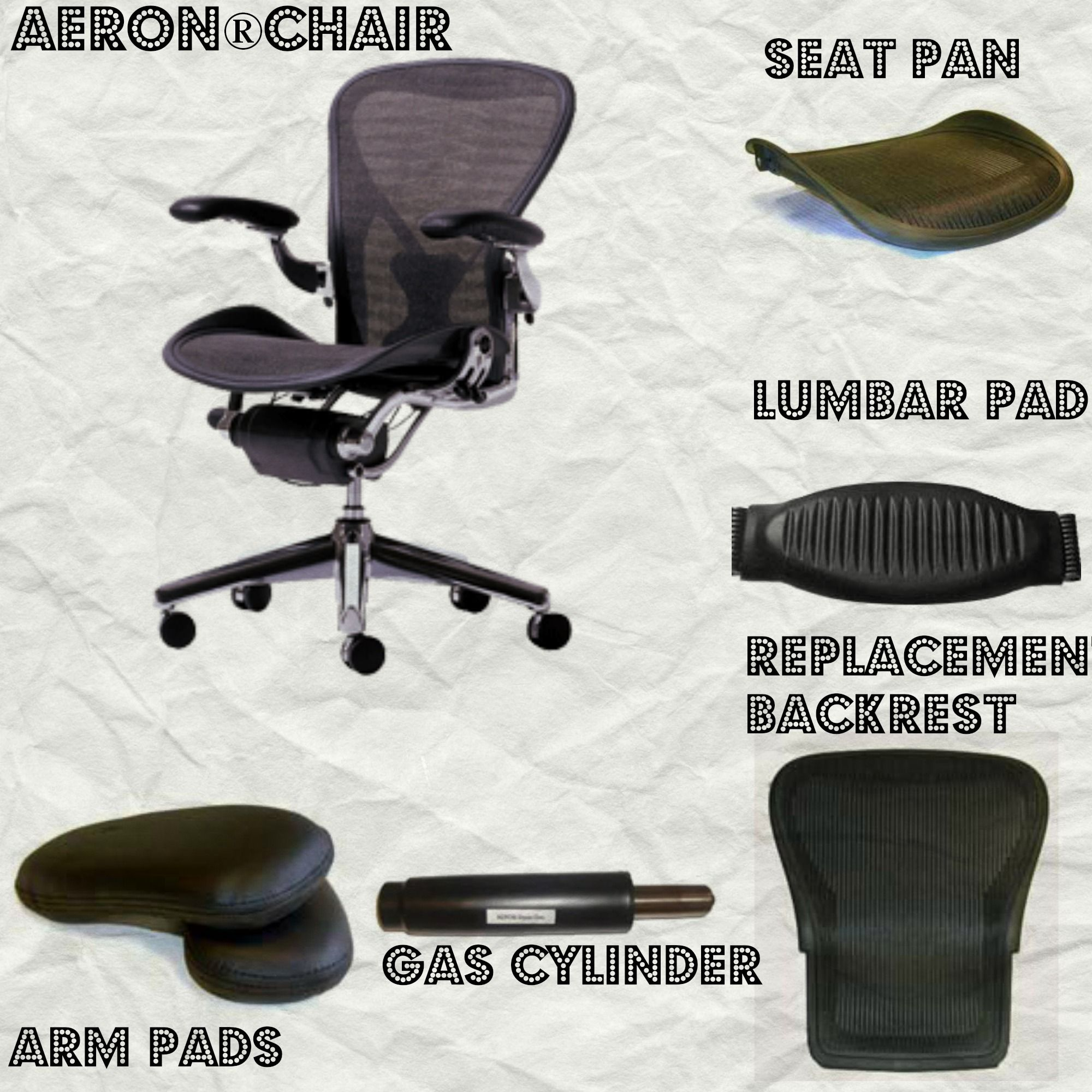 In Search Of Herman Miller Aeron Chair Parts Look No Further You Can Get Them Right Here Right Now Comfy Office Chair Chair Dining Room Chair Cushions