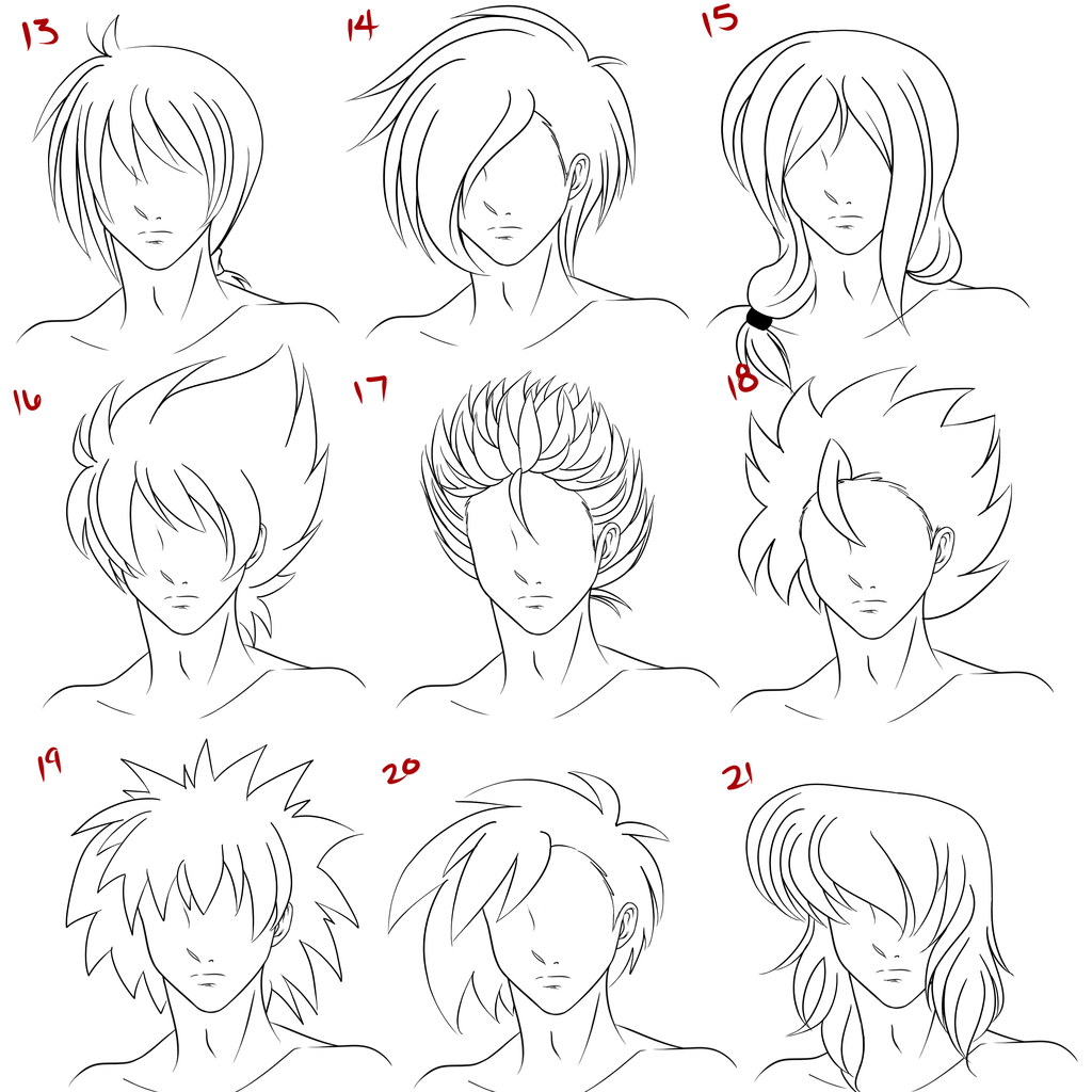 Anime Male Hair Style 3 by on