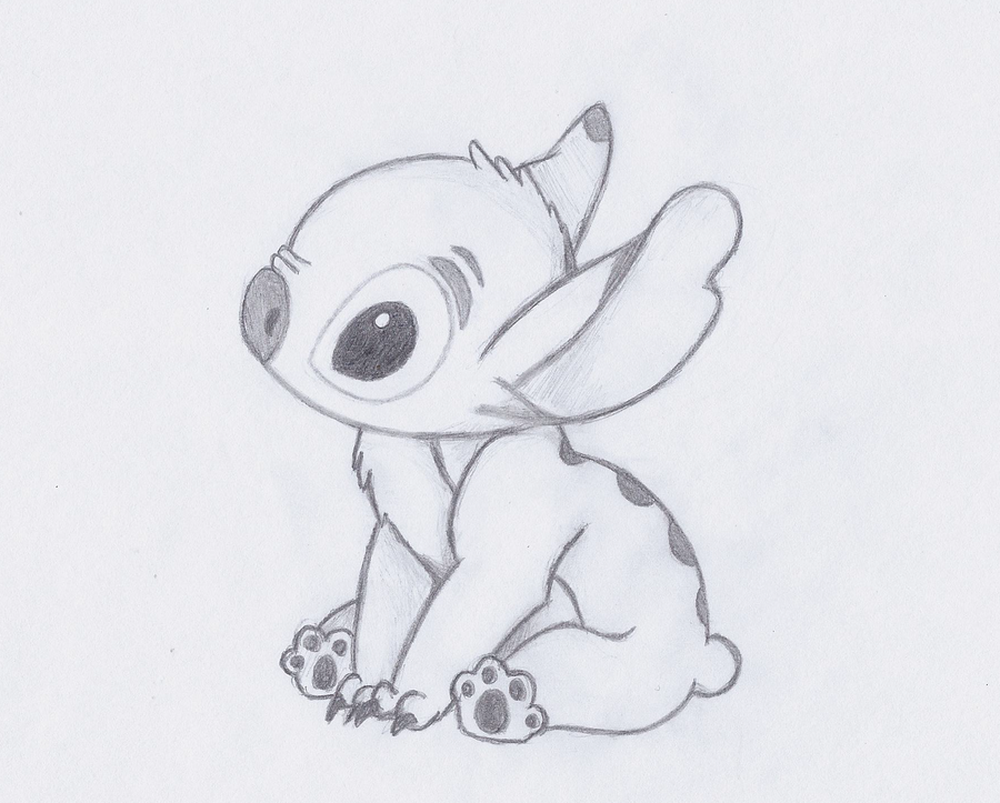 Stitch By Fawnan On Deviantart Stitch Drawing Easy Drawings Disney Drawings