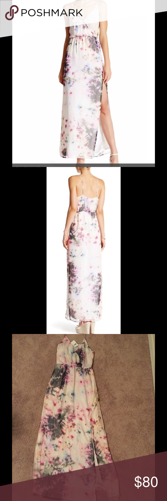 Overnight deal charlie jade maxi dress surplice neck with single