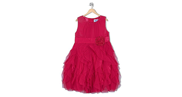 #Soul #Fairy #Fuchsia #Net Ruffles #Party #Dress with 10% #Discount at #Firstcry
