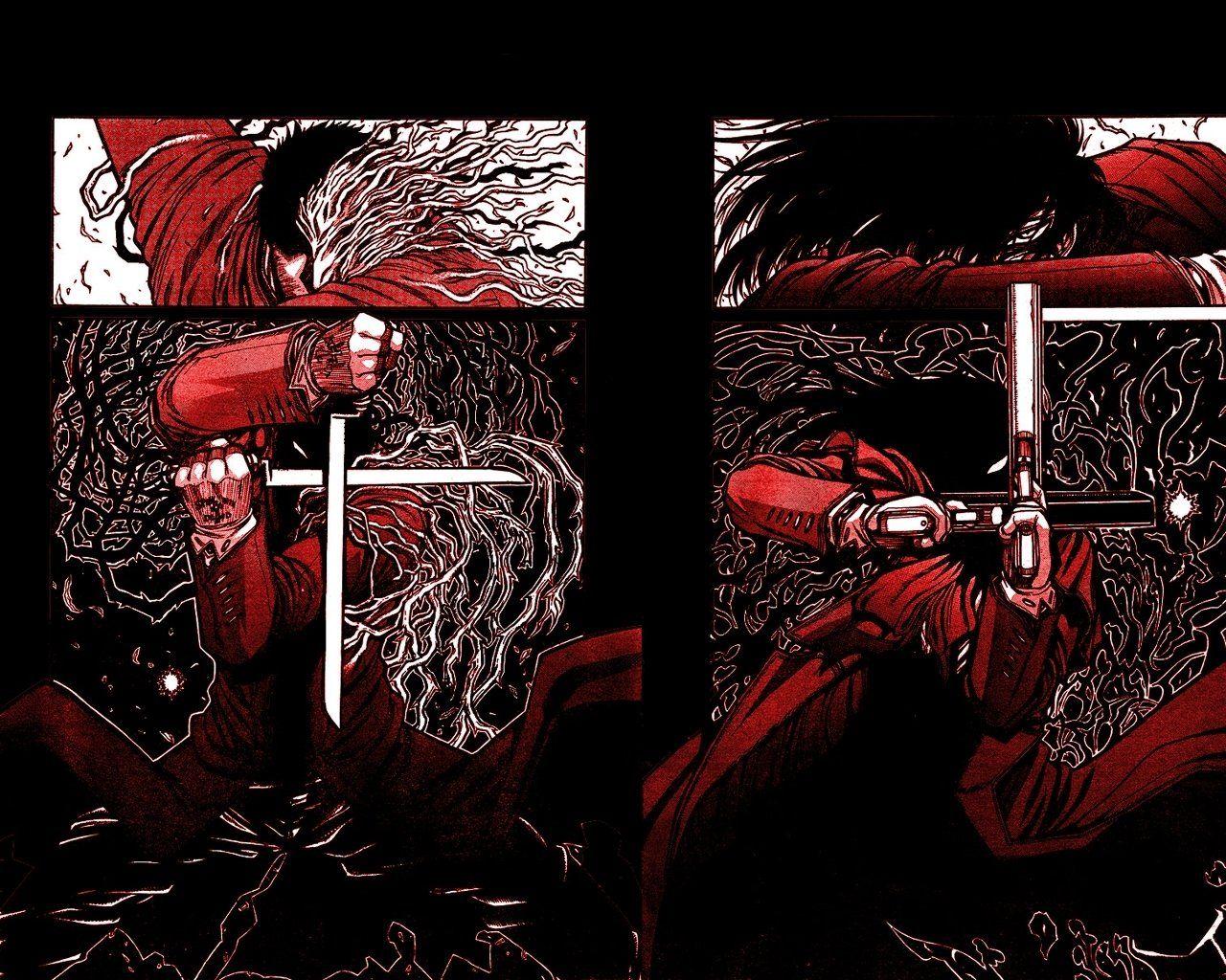 Anime Hellsing Alucard (Hellsing) Alexander Anderson Fondo