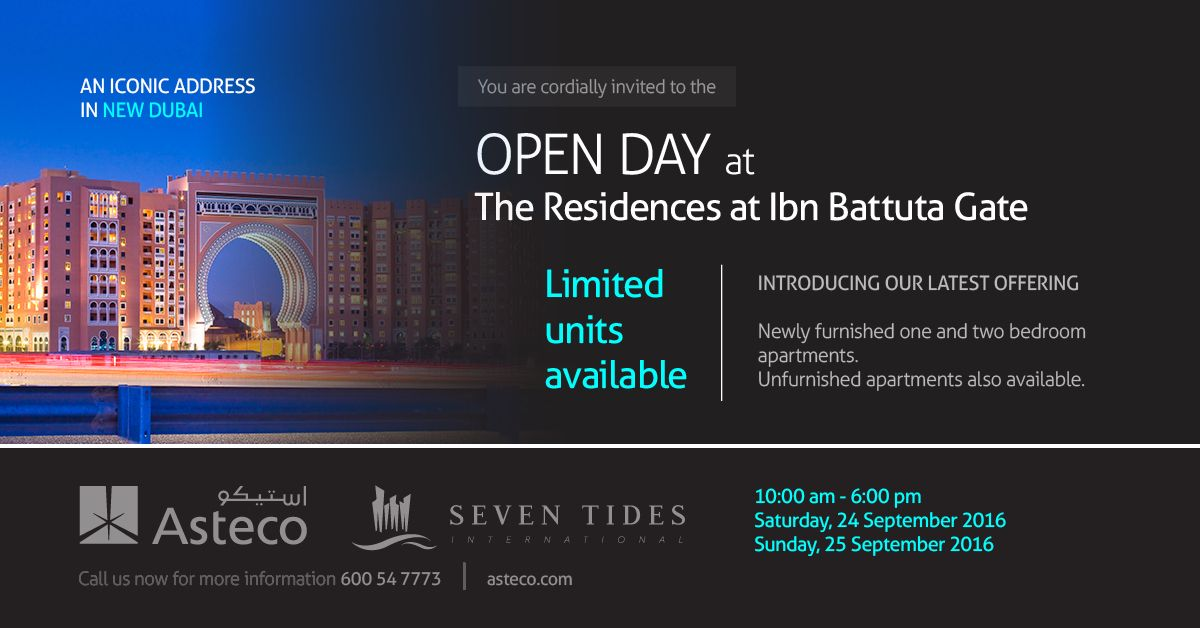 #Asteco open day at the Residences at #IbnBattutaGate.   Introducing our latest offering in an iconic address in new Dubai.