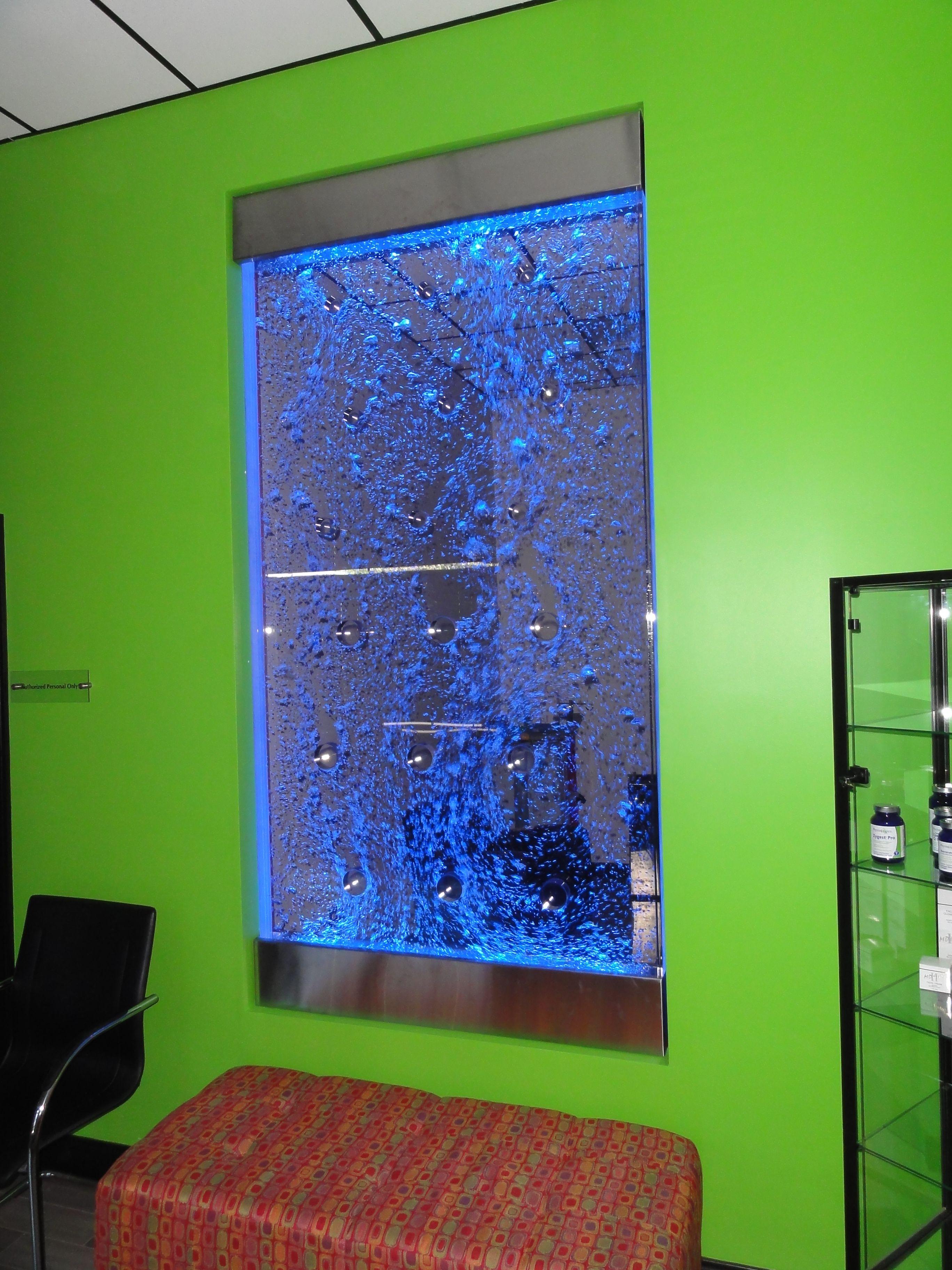 Custom Bubble Panel By Bluworld  Wwwbluworldusacom Water Wallsindoor Fountaincolour